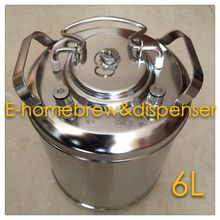 Brand New Stainless Steel 304 Ball Lock Cornelius style Beer Keg 6L , Closure Lid with Pressure Relief Valve