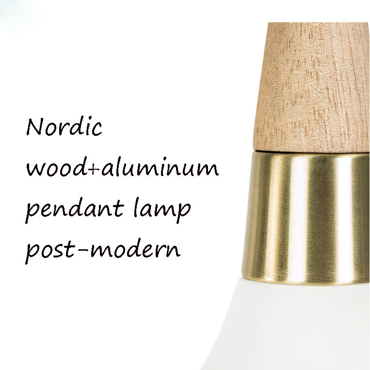 Lampara Colgante Pendant Lights Lustres Abajur Pendant Lamp Luminaire Hanglamp Wood Aluminum Lamp Shade For Home Lighting Dining (2)