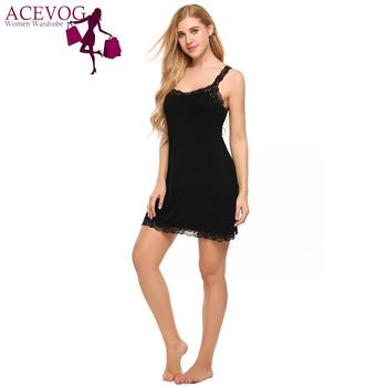None Lace Patchwork Sleepware Casual Women Strap Pullover Spaghetti Sleeveless Dress