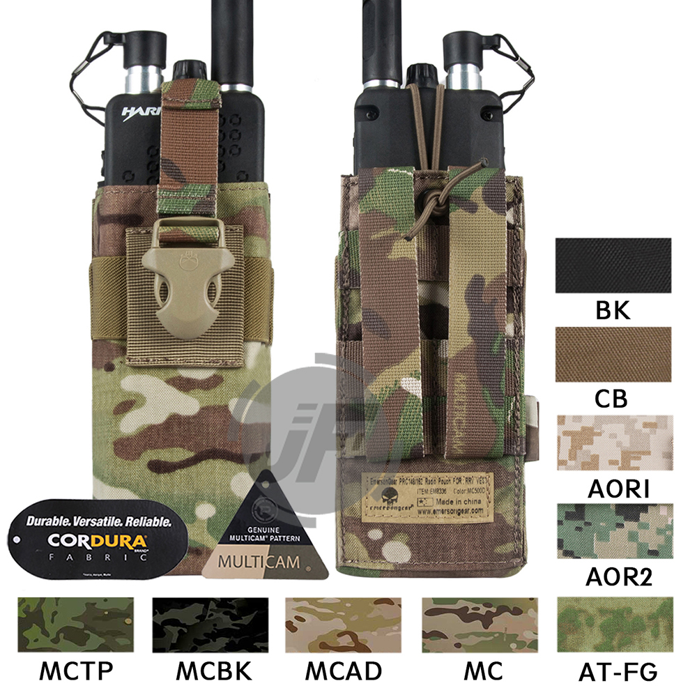Emerson Tactical MOLLE MBITR PRC148 152 Radio Pouch EmersonGear Walkie Talkie Pocket w Release Buckle for