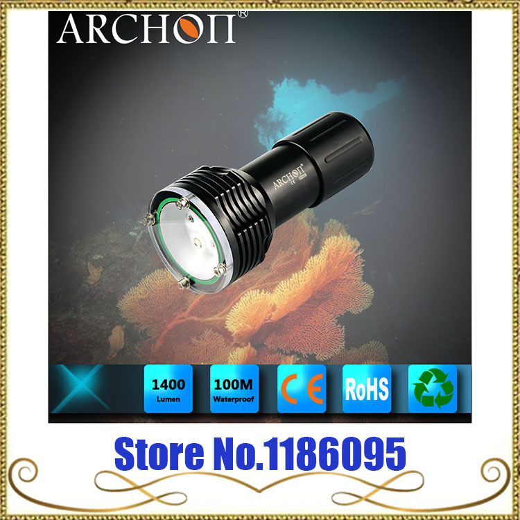 Wholesale Free Shipping ARCHON D32VR CREE XM-L U2 LED + CREE XP-E N3 LED Diving Flashlight batman 66 meets the man from u n c l e