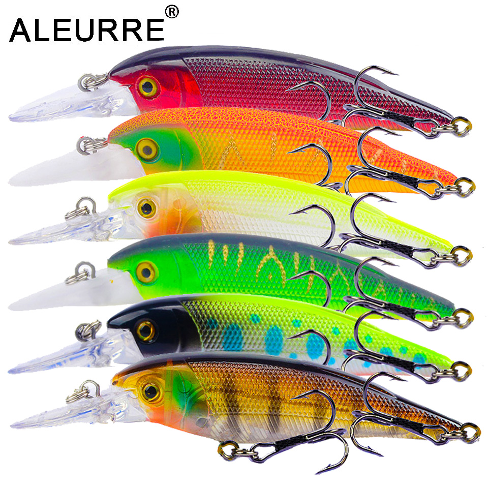 10cm/11g Minnow Lure Fishing Wobbler Hard Isca Artificial Bait Topwater Crankbait 3D Eyes Pesca 6colors Fishing Tackle Stream