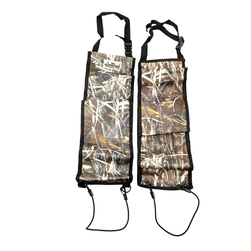 2 PCS Multi-Functional Camouflage Hunting Bag Car Rear <font><b>Seat</b></font> Belt Gun <font><b>Rack</b></font> Outdoor Hunting Equipment Kits