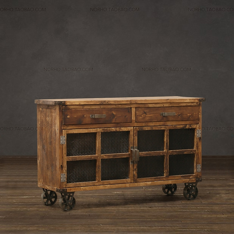 Nordic Vintage Wood Sideboard LOFT Solid Wooden Furniture Recycling Wood TV  Cabinet Storage Cabinet In Sideboards From Furniture On Aliexpress.com |  Alibaba ...