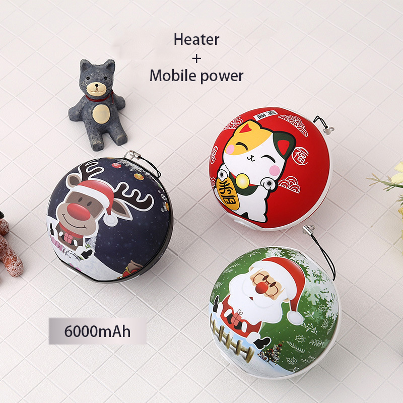 New Christmas Heater Hand Warmer Mobile Power, Fortune Cat, Warm Baby, Portable Heater,  ...