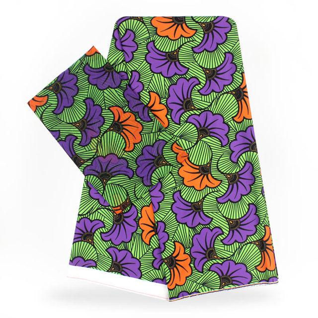 Guinea Brocade Ankara Satin Fabric 4 Yards Audel/Modell Cotton +2 Yards Silk Chiffon Fabric