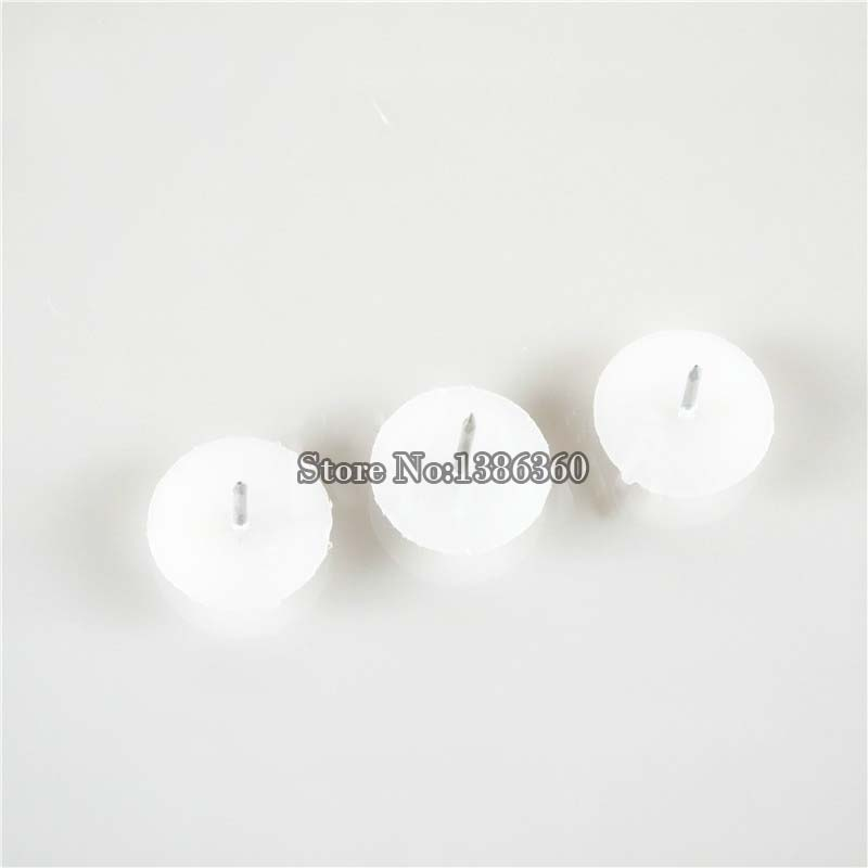 24 PCS Dimater 24mm plastic chair glide nail on furniture feet bottom protect floor white CP516