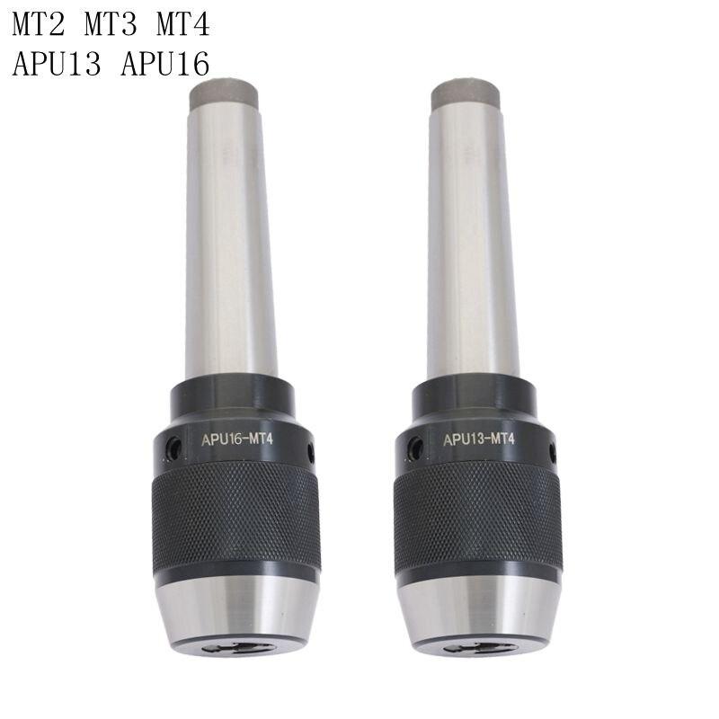 Thread MTB2 MTB3 MTB4 APU13 APU16 morse taper Keyless self tight drill chuck holder range 1