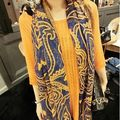 hot sale women long Korean scarf cape broadened textile printing scarves chiffon scarf fashion Shawl super comfortable wrap-b123