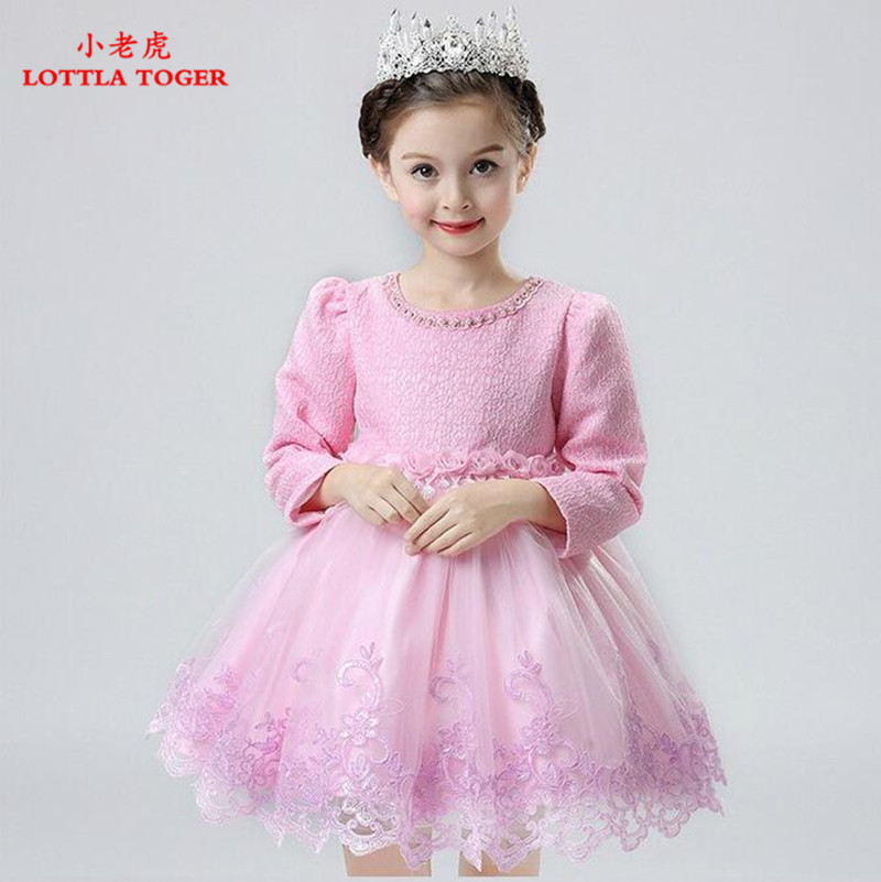 Newest Infant Baby Girl Birthday Party Dresses Baptism Christening Easter Gown Toddler Princess Lace Flower Dress for 3-12 Years 15 color infant girl dress baby girl pageant dress girl party dresses flower girl dresses girl prom dress 1t 6t g081 4
