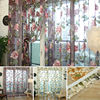 New Chic StyleRoom Floral Tulle Voile Bead Hem Window Curtain100 250CM Voile Curtains Tulle On The