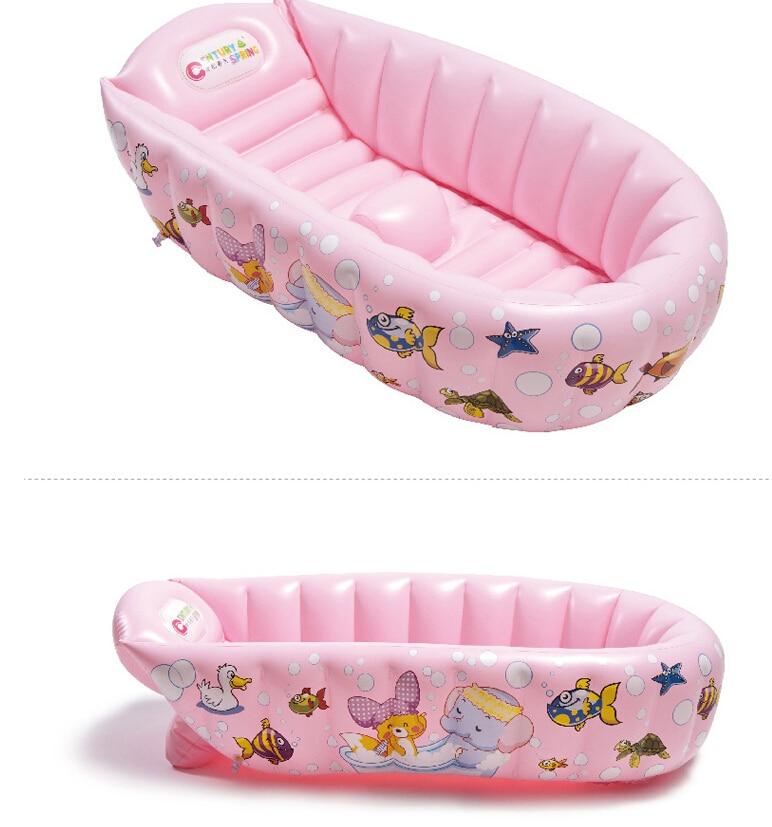 0 3 Year Kids Thickening BathTub Wash bowl Folding Baby Tub ...