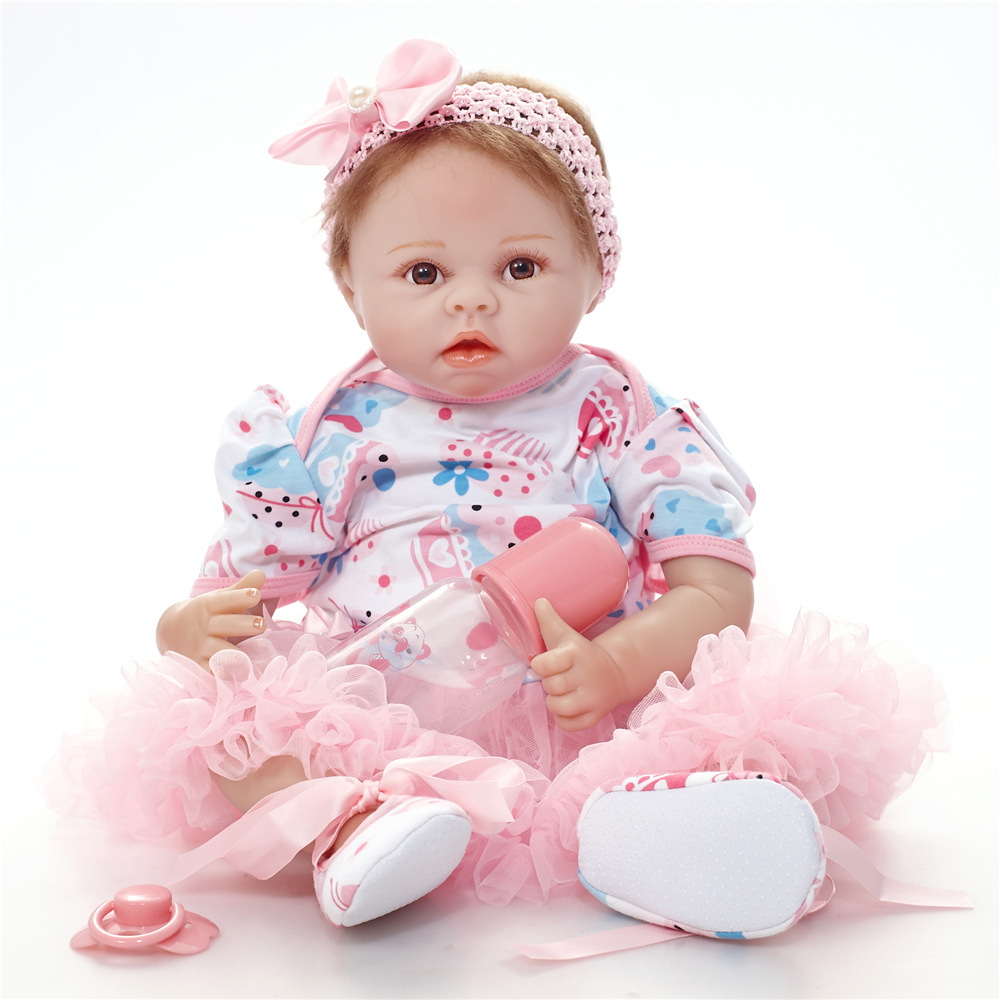 22 55 cm Lifelike Reborn dolls Soft Cloth Body Baby Dolls Early Education Style Limited Collection Xmas Gift Reborn bonecas22 55 cm Lifelike Reborn dolls Soft Cloth Body Baby Dolls Early Education Style Limited Collection Xmas Gift Reborn bonecas