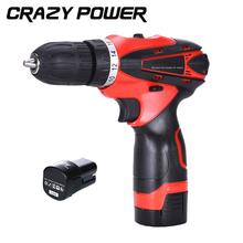 CRAZY POWER 16.8V Electric Drill 2 Rechargeable Batteries 2 Speed Cordless Screwdriver Electric Screwdriver Parafusadeira