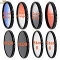 KnightX Star ND4 ND8 Grad blue Cross Lens Filter Line 58mm 67MM 77mm 52mm For Canon EOS 650D 600D 1100D camera DSLR D5100 D5200
