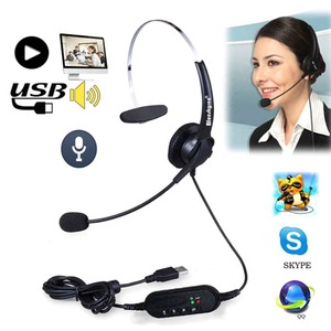 Image 1 - szKosTon High Quality USB Headset Noise Canceling Adjustable Operator Dedicated Headphones with Microphone for PC Laptop