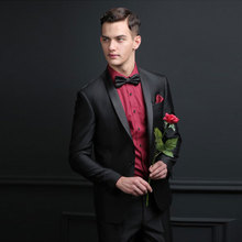 Men Suits for Wedding Black Male Jacket Formal Groom Tuxedos Evening Party Best Man Blazers 2Piece Slim Fit Costume Homme