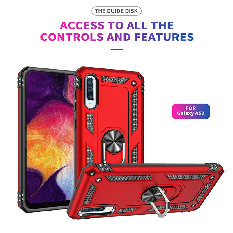 Image 5 - H&A Luxury Shockproof Phone Case For Samsung Galaxy A60 A70 A80 A90 A50 A40 A30 A20 A10 Magnetic Ring Stand Cover M10 M20 Case-in Fitted Cases from Cellphones & Telecommunications