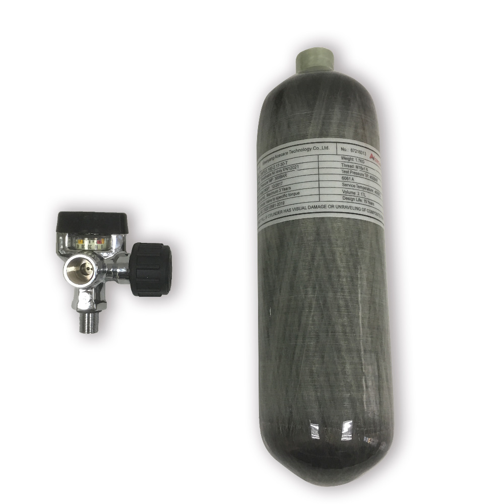 AC121721 2.17L 30Mpa Pcp Air Tank Scuba Pcp Airforce Valve Diving Tank Pcp Airforce Conder Gun Gas For Shooting Aqualung Dive