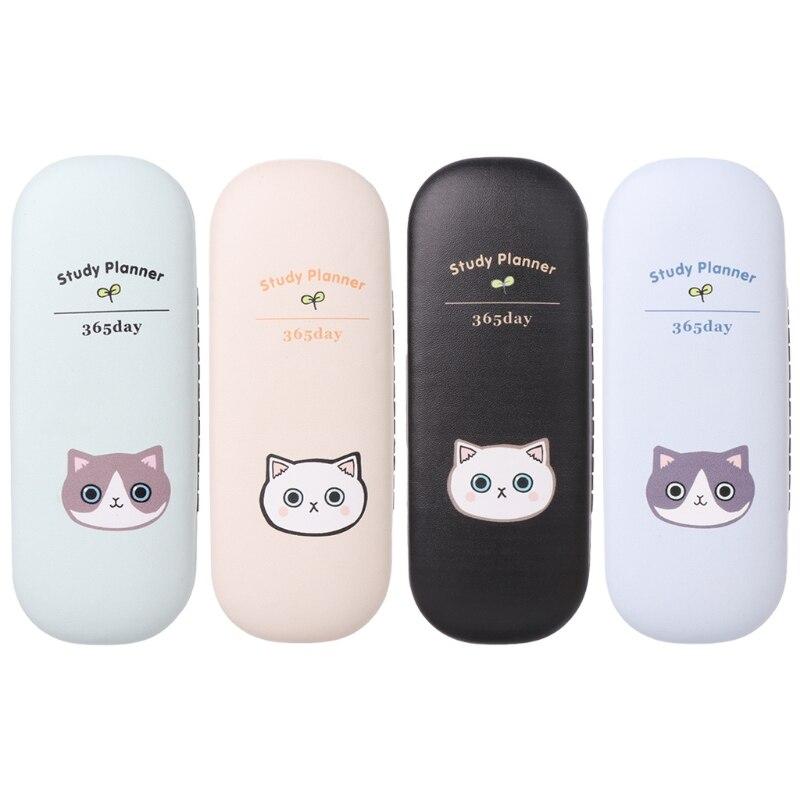 New Design Glasses Box Cute Cat Cartoon Hard Case Protector Eyeglasses Portable