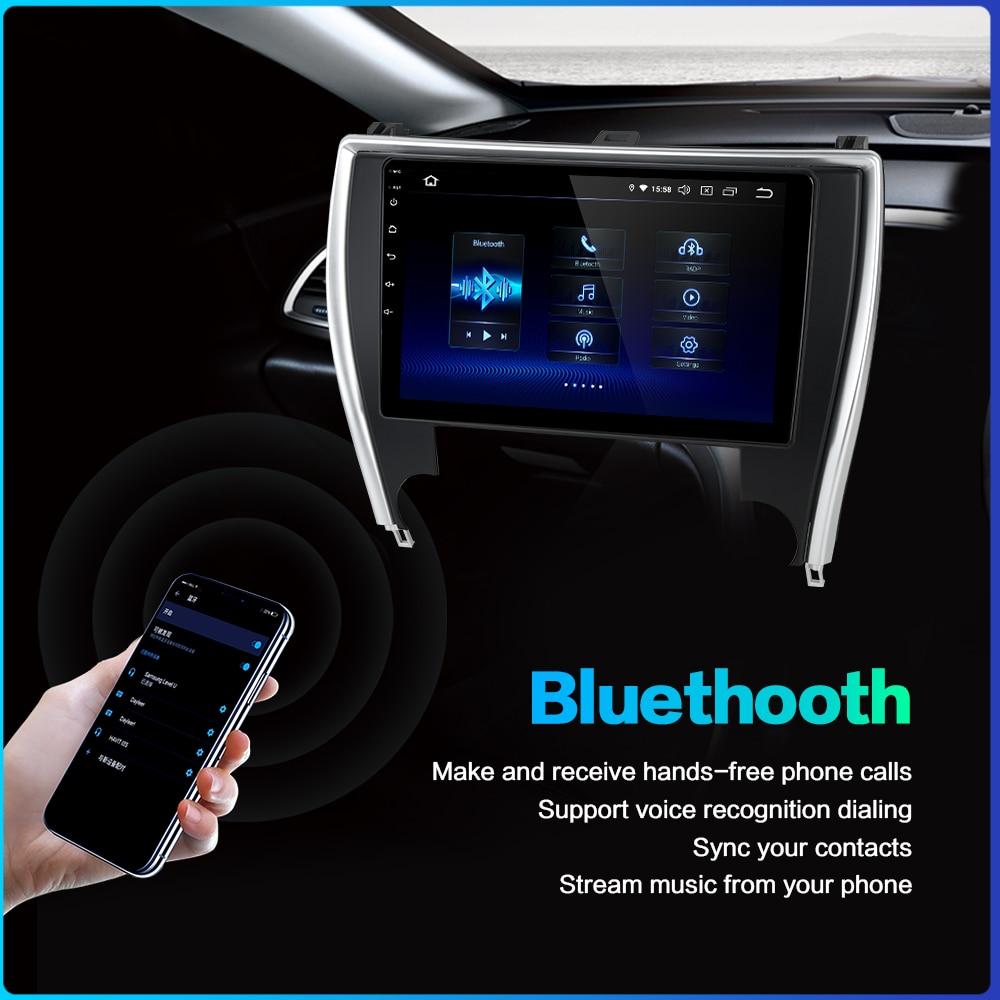 "Sale Dasaita 10.2"" Car Radio 1 Din Android 9.0 for Toyota Camry US Version 2015 2016 2017 Bluetooth USB 64GB ROM 3"
