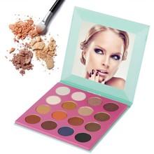 Фотография 16 Colors Eyeshadow Palette Earth Smoky Warm Eye Shadow Highly Pigmented Shimmer Matte Waterproof Eyeshadow Women Eye Makeup Kit