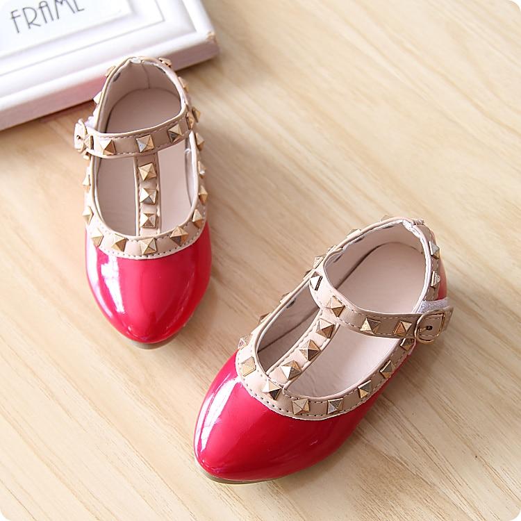 72ce2df93c6 Autumn New Summer Designer Pretty Cute Rivets Little Baby Girls Princess  Sandals
