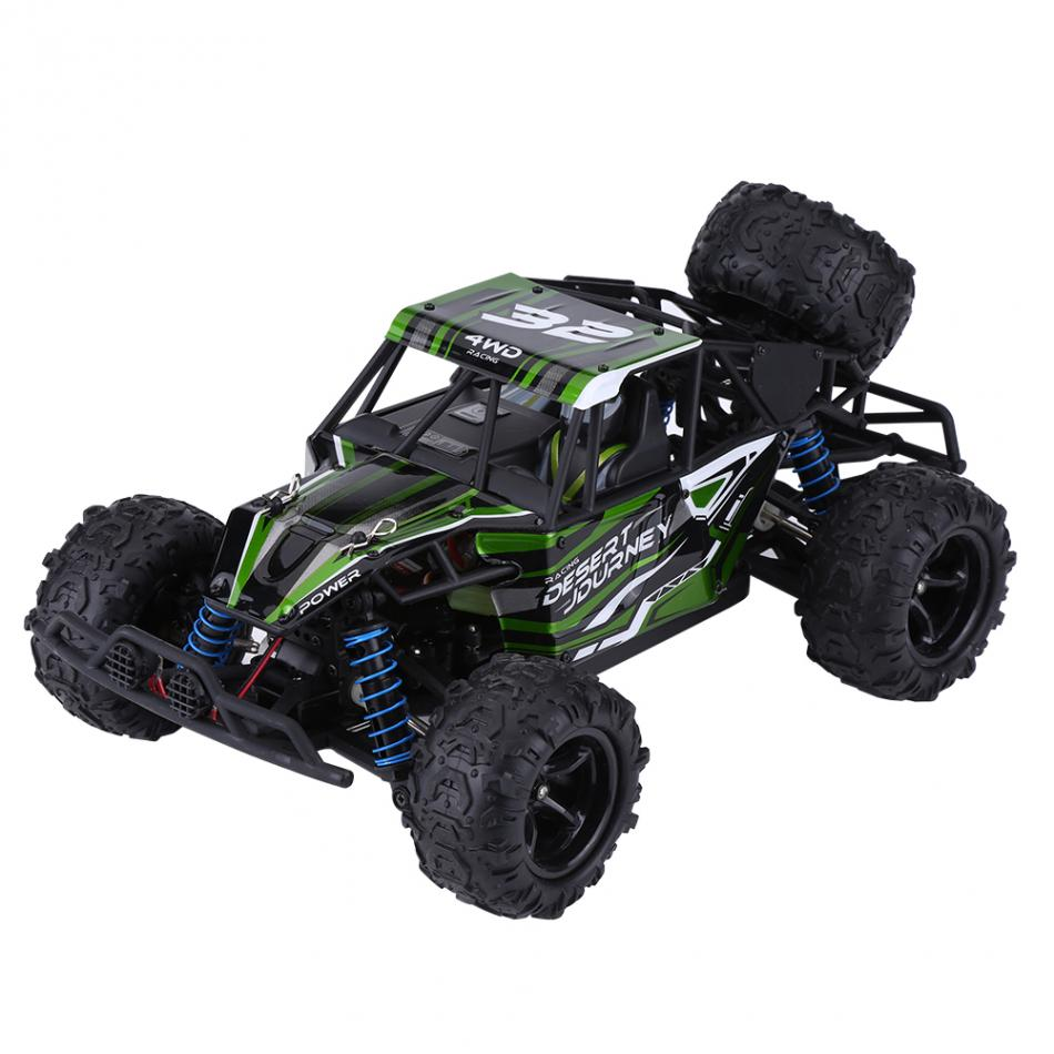 9303 Electric Toys High Speed RC Car 2.4GHz 1/18 Remote Control Four-Wheel Drive Car RC Model Vehicle Toy Green 1 18 electric rc car toy four wheel drive 2wd 2 4g high speed off road car model toy remote control car up to 40kmh per hour