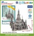 Новый 2014 Умный и Счастливую 3d головоломки пагода Храм Рассвета (таиланд) взрослых головоломка diy бумажные модели обучения и образования