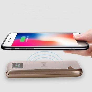 2018 Venta caliente doble cargador USB inalámbrico QI Banco de la energía 10000 mAh cargador inalámbrico para Huawei P20 pro para VIVO batería Externa