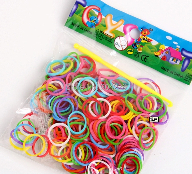 DIY Loom Rubber Bands Loom Bands Refills Magic Crazy Twistz Bandz (000 bands+ 10 S-Clips+1 Hook/Pack) 10Packs/lot