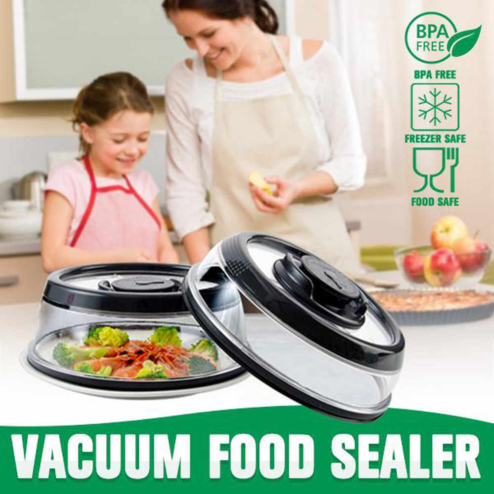 Airtight Vacuum Food Sealer Mintiml Cover Kitchen Instant Vacuum Food Sealer Fresh Cove  Lids Safe Steam Kitchen Gadge 3.7