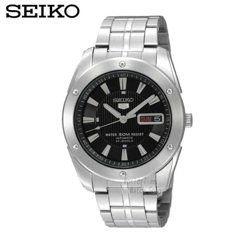 SEIKO Watch Shield No.5 Business Leisure Week Calendar Steel Band Machinery Men 'S Watch SNZF35J1 SKZ309J1 seiko 5 snke53k1s