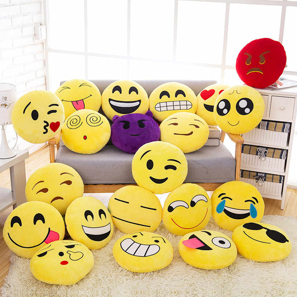 32 centímetros Smiley Emoticon Macio Caso Travesseiro Boneca de Brinquedo de Pelúcia Tampa Do Caso pillow covers decorativa do vintage