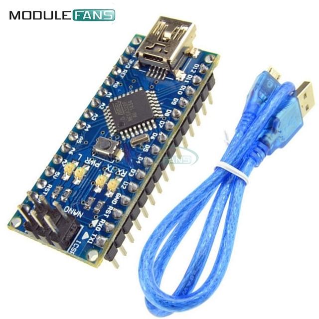 Nano 3.0 Mini USB Driver ATmega328 5V 16M Micro Controller Board Nano CH340 V3.0 For Arduino With Usb Cable