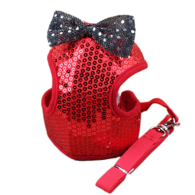 3b4446314e8e Luxury Bling Bling Pet Gentleman Suit Vest Harness with Bowtie Puppy Dog  Tuxedo Walk Harness and Leash Soft Padded Dog Harness