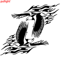 2 X Large Car Side Fly Eagle Flame Sticker Graphics 4x4 Decals Vinyl Decal