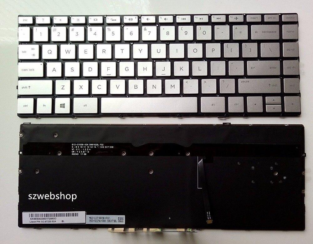 New for HP Spectre x360 13-w series 13-w013dx 13-w014dx 13-w023dx 13-w063nr 13-W010CA 13-W020CA US keyboard backlit sliver linvel 8336 13