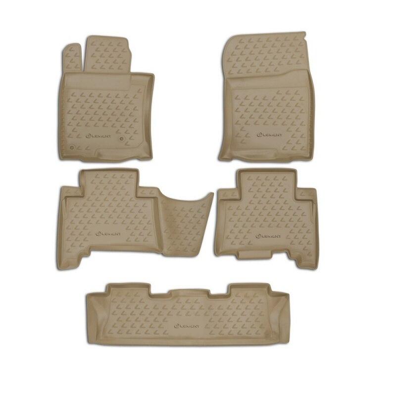 цена на Carpet mats interior For LEXUS GX460 02/2010->, 5 PCs (polyurethane, beige)