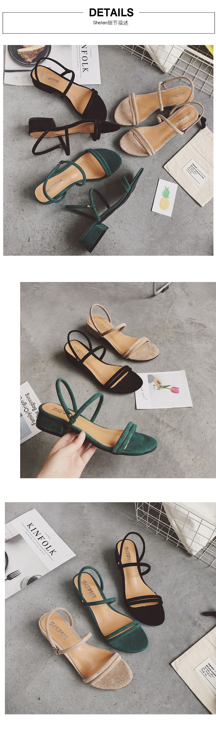 HTB1oANcOMHqK1RjSZJnq6zNLpXaf new Flat outdoor slippers Sandals foot ring straps Roman sandals low slope with women's shoes low heel shoes Sandals mujer