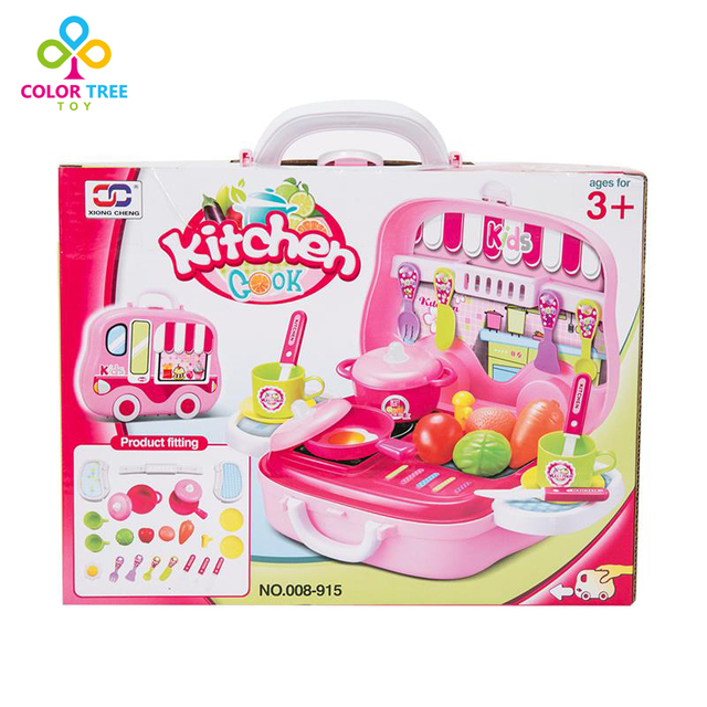 mini simulation toy kitchen set cooking toy pretend play toys for children - Toy Kitchen
