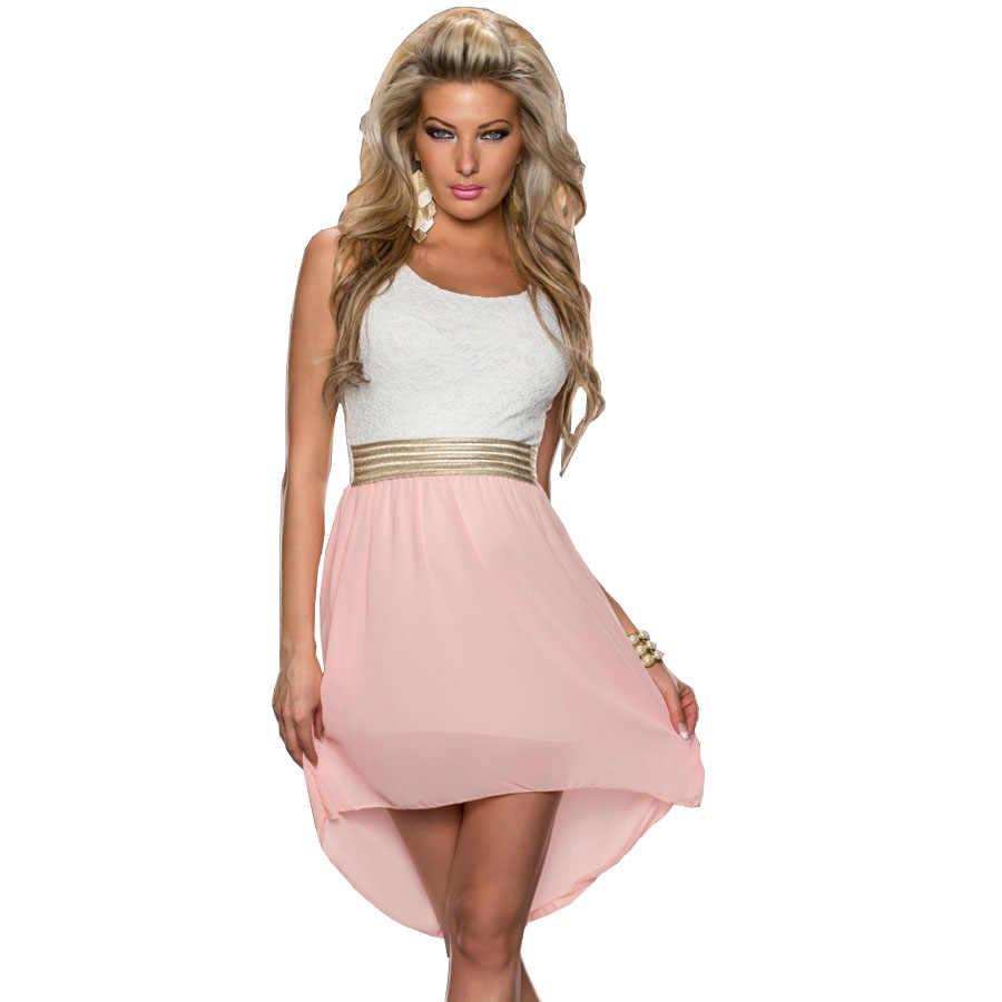 307916d25223 Pink Crochet Lace Embroidery Vintage Dress 2017 New Fashion Women Work Wear  Midi Chiffon Dress Elegant