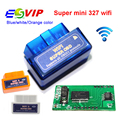 Top Super Mini Wifi ELM327 ElM 327 Wi-fi V1.5 OBD 2 II Car Ferramenta De Diagnóstico OBD2 Interface de Scanner Suporte Android & IOS sistema