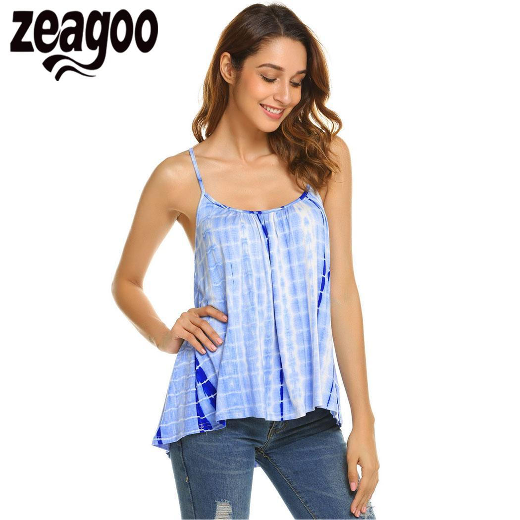 7d37cd0bd873 Zeagoo Women Sexy Camisoles Blouse Tank Tops Sleeveless Bodycon Temperament  Blouse Vest Chiffon Loose Top