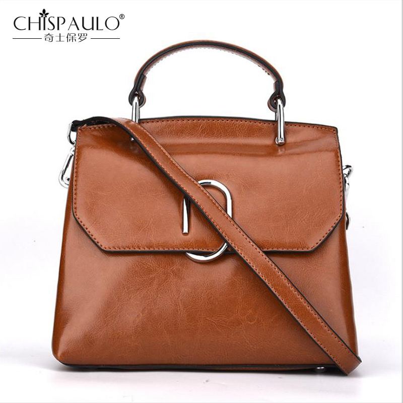 Brand High Quality Genuine Leather Women Handbag Famous Designer Women Shoulder Bag Oil Wax Leather Totes Bag New Crossbody Bags new 2017 fashion brand genuine leather women handbag europe and america oil wax leather shoulder bag casual women bag
