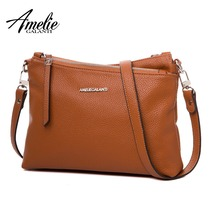 AMELIE GALANTI Fashion Womens Bag Pocket with Compartment Women Handbags Casual Multi-pocket Soft PU Leather Crossbody