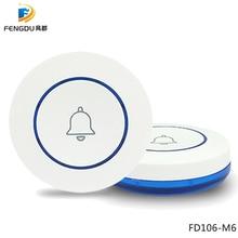 Self-powered Wireless 433mhz Doorbell Touch Button Home Secu