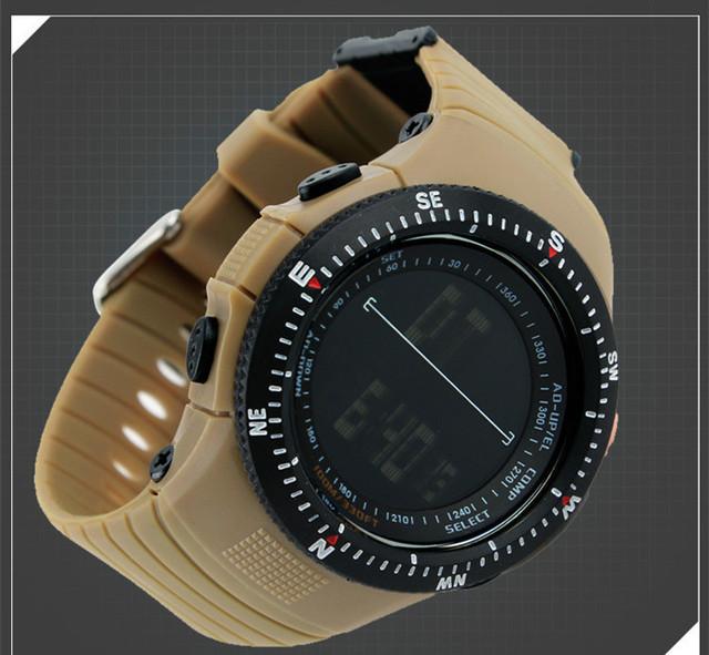 Militar Dos Homens do Desenhador Display LED Digital Relógios Moda Simples Homens Ao Ar Livre Esportes De Borracha relógios de Pulso À Prova D' Água 3ATM NW755