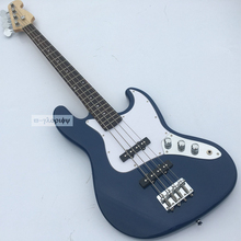 High End 4 string Electric Bass guitar,With Full maple body,Rosewood guitars.Chinese guitarras,Blue