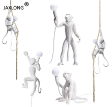 Nordic Style LED Resin Monkey Table Lamp Bedroom Bedside Simple Home Decor Lights Modern Novelty Lighting Light Fixture
